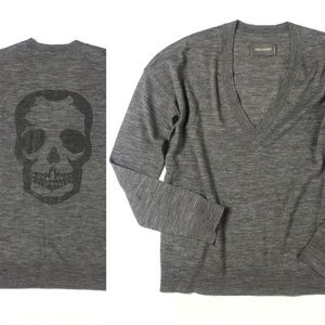 zadig and voltaire skull sweater